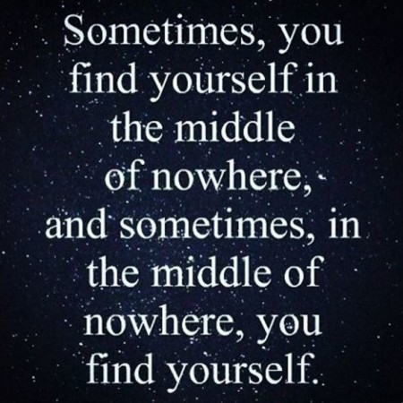 sometimes in the middle of nowhere